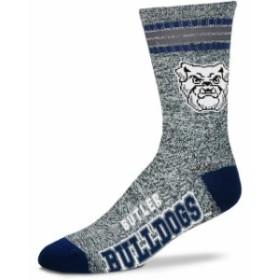 For Bare Feet フォー ベア フィート スポーツ用品  Butler Bulldogs For Bare Feet Got Marbled Crew Socks  Gray