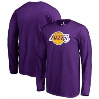 Fanatics Branded ファナティクス ブランド スポーツ用品  Fanatics Branded Los Angeles Lakers Youth Purple Primary Logo Long Sleeve