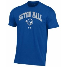 Under Armour アンダー アーマー スポーツ用品  Under Armour Seton Hall Pirates Royal Arched Performance Cotton T-Shirt