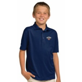Antigua アンティグア スポーツ用品  Antigua New Orleans Pelicans Youth Navy Pique Desert Dry X-tra Lite Polo