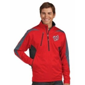 Antigua アンティグア アウターウェア ジャケット/アウター Antigua Washington Nationals Red Discover Half-Zip Jacket