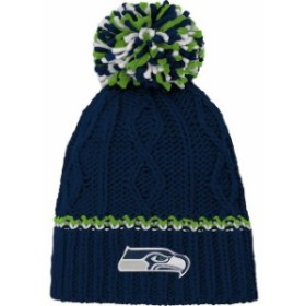 Outerstuff アウタースタッフ 帽子 ハット Seattle Seahawks Girls Youth College Navy Team Color Cable Knit Beanie