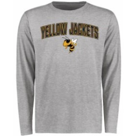 Fanatics Branded ファナティクス ブランド スポーツ用品  Georgia Tech Yellow Jackets Ash Proud Mascot Long Sleeve T-Shirt