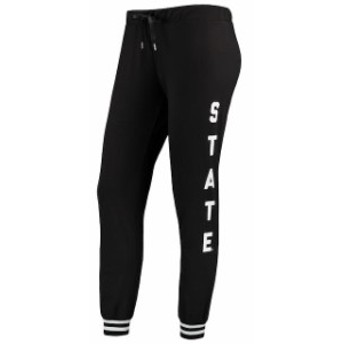 ZooZatz ズーザッツ スポーツ用品  ZooZatz Michigan State Spartans Womens Black Goal Striped Cuff Jogger Pants