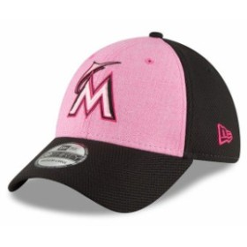 New Era ニュー エラ スポーツ用品  New Era Miami Marlins Pink 2018 Mothers Day 39THIRTY Flex Hat