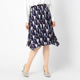 [マルイ]【セール】《セットアップ対応》クラシックキカ柄膝丈プリーツスカート/ナラカミーチェ(NARACAMICIE)