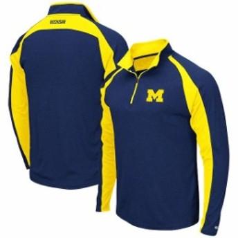 Colosseum コロセウム スポーツ用品  Colosseum Michigan Wolverines Heathered Navy The J. Peterman Quarter-Zip Pullover Jacket