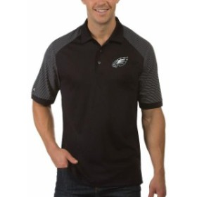 Antigua アンティグア シャツ ポロシャツ Antigua Philadelphia Eagles Black Engage Big & Tall Polo