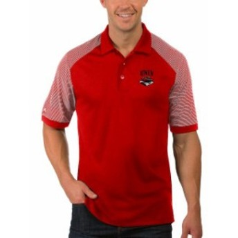 Antigua アンティグア スポーツ用品  Antigua UNLV Rebels Red Engage Desert Dry Big & Tall Polo