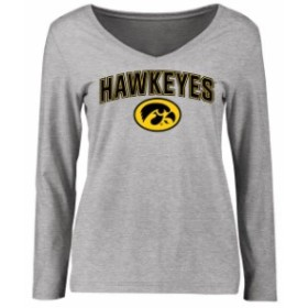 Fanatics Branded ファナティクス ブランド スポーツ用品  Iowa Hawkeyes Womens Ash Proud Mascot Long Sleeve T-Shirt