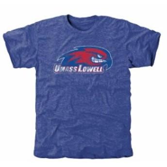 Fanatics Branded ファナティクス ブランド スポーツ用品  UMass Lowell River Hawks Royal Classic Wordmark Tri-Blend T-Shirt