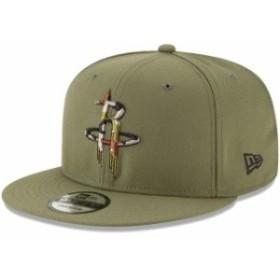 New Era ニュー エラ スポーツ用品  New Era Houston Rockets Olive Camo Trim 9FIFTY Adjustable Hat