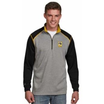 Antigua アンティグア アウターウェア ジャケット/アウター Antigua Pittsburgh Pirates Gray/Black Breakdown Quarter-Zip Knit Sweater