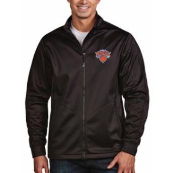 Antigua アンティグア スポーツ用品  Antigua New York Knicks Black Golf Full Zip Jacket