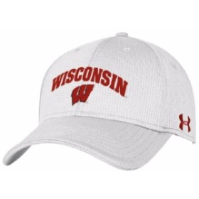 Under Armour アンダー アーマー スポーツ用品  Under Armour Wisconsin Badgers White Blitzing Structured Flex Hat -
