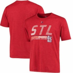 Majestic マジェスティック スポーツ用品  Majestic St. Louis Cardinals Heathered Red Feel the Drama Poly T-Shirt