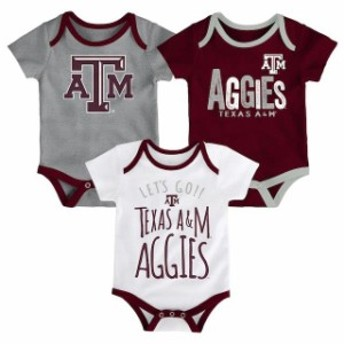 Outerstuff アウタースタッフ アクセサリー  Texas A&M Aggies Newborn Maroon/White/Heathered Gray Little Tailgater Three-Pack Bodys