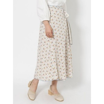 【メリージェニー/merry jenny】 flowerパイピングラップスカート