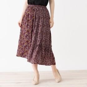 grove(グローブ)/花柄パターンMIXギャザースカート
