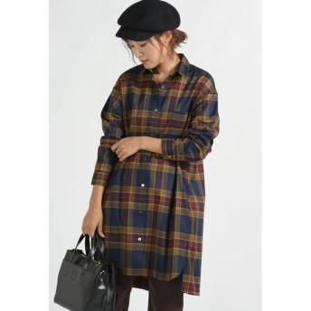 MAYSON GREY / ビッグチェックチュニックシャツ