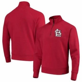 47 フォーティーセブン アウターウェア ジャケット/アウター 47 St. Louis Cardinals Red MLB Headline Quarter-Zip Pullover Jacket