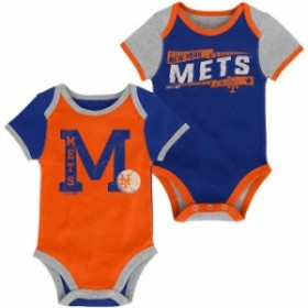 Outerstuff アウタースタッフ スポーツ用品  New York Mets Newborn Royal/Orange Baseball Star Two-Pack Bodysuit Set