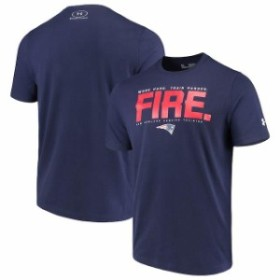 Under Armour アンダー アーマー スポーツ用品  Under Armour New England Patriots Navy Combine Authentic Team Verb Performance T-Sh