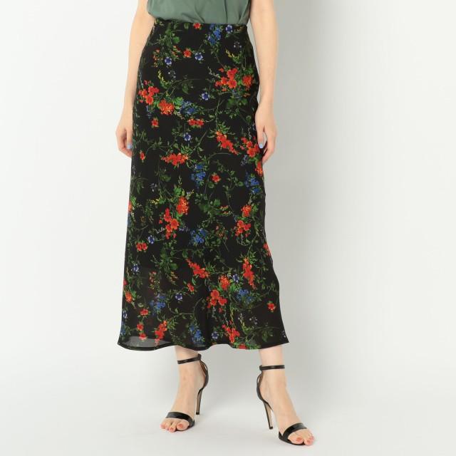 NOLLEY'S(ノーリーズ)/フラワープリントナローロングスカート