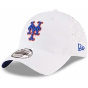 New Era ニュー エラ スポーツ用品  New Era New York Mets White Perforated Pivot 9TWENTY Adjustable Hat