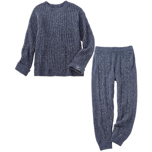 ワコール ピーチジョン 【ふわふわ&もこもこ素材で暖かいルームウエア】メンズホイップリーパジャマ メンズパジャマ NV