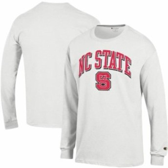 Champion チャンピオン スポーツ用品  Champion NC State Wolfpack White Arch Over Logo Long Sleeve T-Shirt