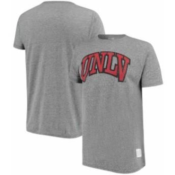 Original Retro Brand オリジナル レトロ ブランド スポーツ用品  Original Retro Brand UNLV Rebels Heathered Gray Tri-Blend T-Shirt