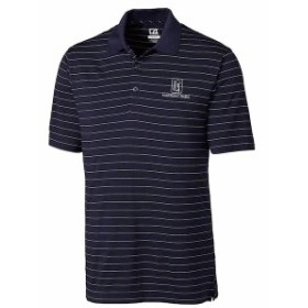Cutter & Buck カッター アンド バック スポーツ用品  Cutter & Buck TPC Harding Park Navy DryTec Franklin Stripe Polo