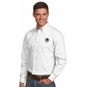 Antigua アンティグア スポーツ用品  Antigua Golden State Warriors White Dynasty Woven Button-Down Shirt