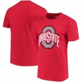 J America Sportswear ジェイ アメリカ スポーツウェア スポーツ用品  Ohio State Buckeyes Scarlet School Logo T-Shirt
