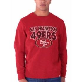 47 フォーティーセブン 服 スウェット 47 Brand San Francisco 49ers Scarlet First String Heavy Slub Crew Sweatshirt