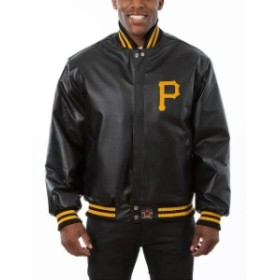 JH Design ジェイエイチ デザイン アウターウェア ジャケット/アウター JH Design Pittsburgh Pirates Black Team Color Leather Jacket