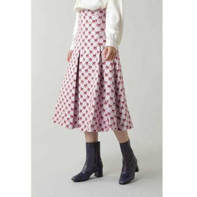 ROSE BUD / ローズ バッド Foal Pleated Midi Skirt