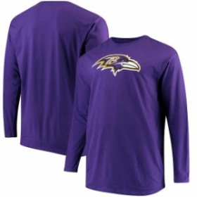 NFL Pro Line by Fanatics Branded エヌエフエル プロ ライン スポーツ用品  Pro Line Baltimore Ravens Purple Big & Tall Primary Logo