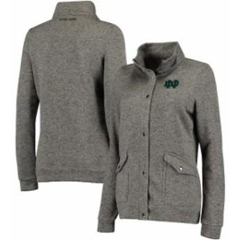 Colosseum コロセウム スポーツ用品  Colosseum Notre Dame Fighting Irish Womens Charcoal Flyaway Full-Zip Jacket