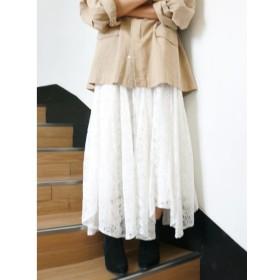【アングリッド/Ungrid】 レースイレヘムデザインスカート