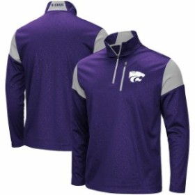Colosseum コロセウム スポーツ用品  Colosseum Kansas State Wildcats Purple Luge Quarter-Zip Pullover Jacket