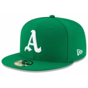 New Era ニュー エラ スポーツ用品  New Era Oakland Athletics Green 2018 Turn Back the Clock Throwback 59FIFTY Fitted Hat