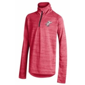 Under Armour アンダー アーマー スポーツ用品  Under Armour Cincinnati Reds Youth Girls Red Space Tech Quarter-Zip Performance Jac