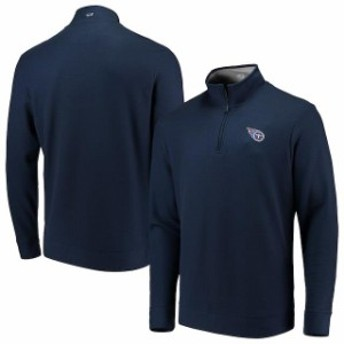 Vineyard Vines ヴィニヤード ヴァインズ 服 スウェット Vineyard Vines Tennessee Titans Navy Saltwater Quarter-Zip Jacket