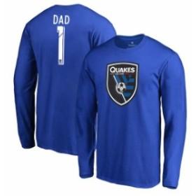 Fanatics Branded ファナティクス ブランド スポーツ用品  Fanatics Branded San Jose Earthquakes Blue #1 Dad Long Sleeve T-Shirt