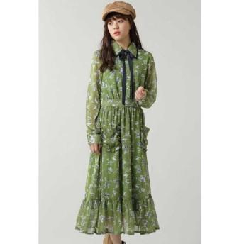 ROSE BUD / ローズ バッド Budding Ruffle Midi Dress