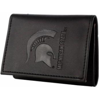 Evergreen Enterprises エバーグリーン エンタープライズ スポーツ用品  Michigan State Spartans Black Hybrid Tri-Fold Wallet
