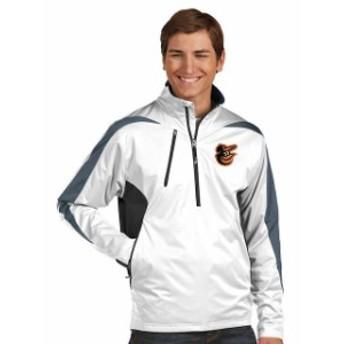 Antigua アンティグア スポーツ用品  Antigua Baltimore Orioles White Discover Half-Zip Jacket