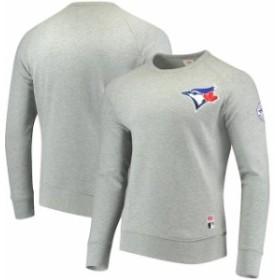Levis リーバイス 服 スウェット Levis Toronto Blue Jays Heathered Gray Pullover Sweatshirt